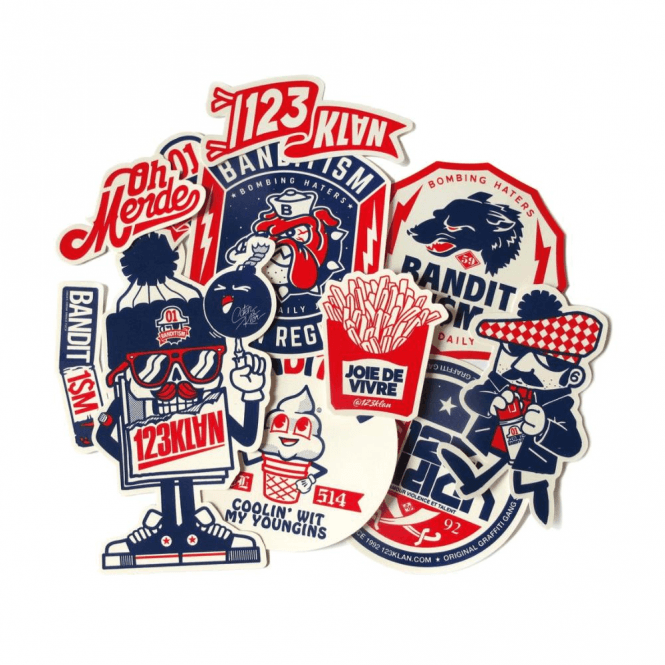 Bandit1$m 123Klan Sticker Pack V8