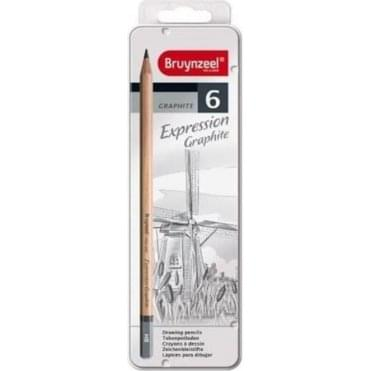 Bruynzeel 6 Graphite Pencil Set