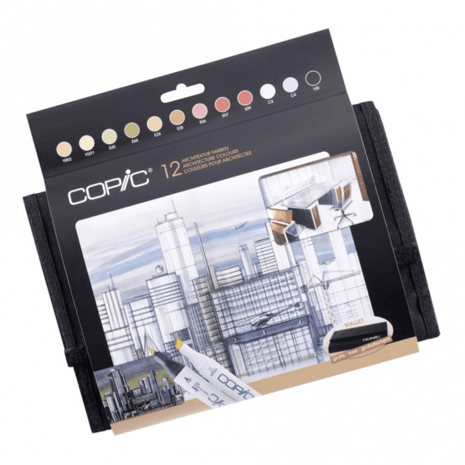 Copic Classic Marker 12 Architecture Colours + Wallet