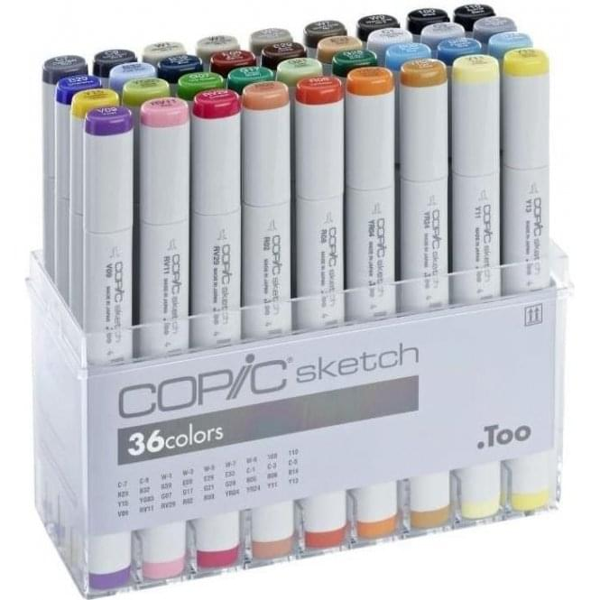 Copic Sketch Marker 36 Basic Colours