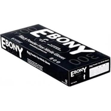 Ebony 300 Black Nitrile Gloves