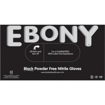 Ebony Black Nitrile Gloves