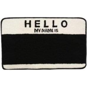 Egg Shell 'Hello My Name Is' Doormat