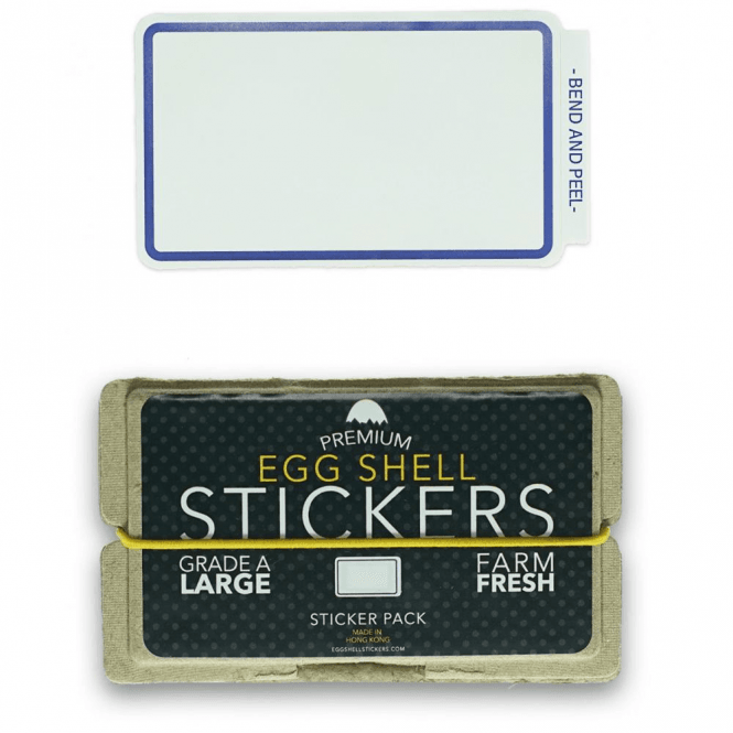 Egg Shell Stickers Blue Line Border