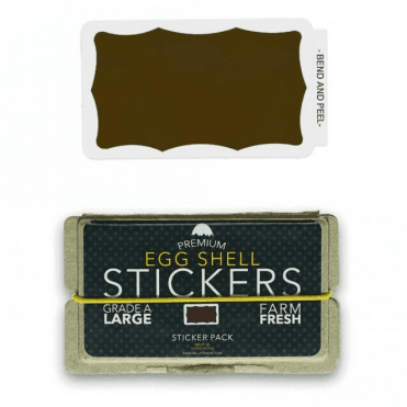 Stickers Brown Wavy Border