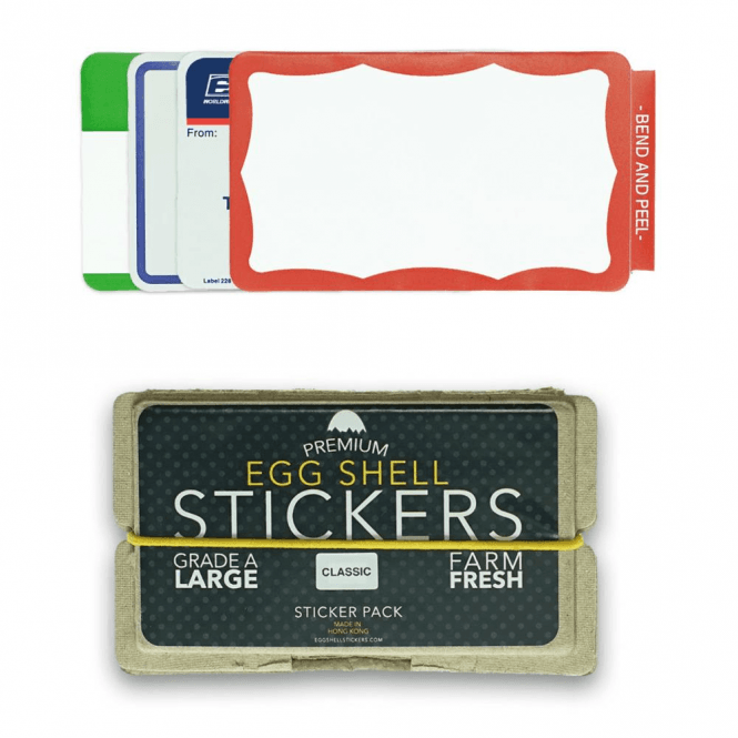 Egg Shell Stickers Classic Mixed