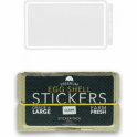 Egg Shell Stickers Clear Line Border