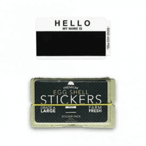 Stickers 'Hello My Name Is' Black