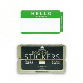 Stickers 'Hello My Name Is' Green