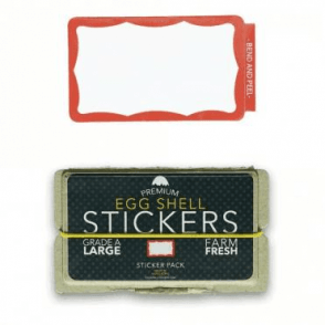 Stickers Red Wavy Border