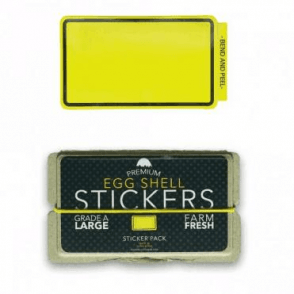 Egg Shell Stickers Yellow Line Border