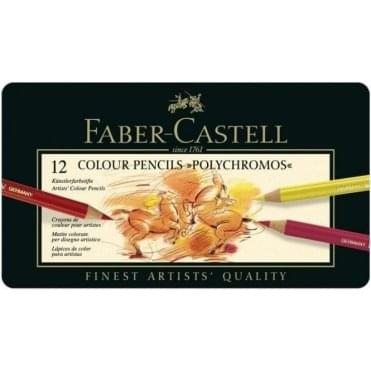12 Colour Pencils Polychromos Tin