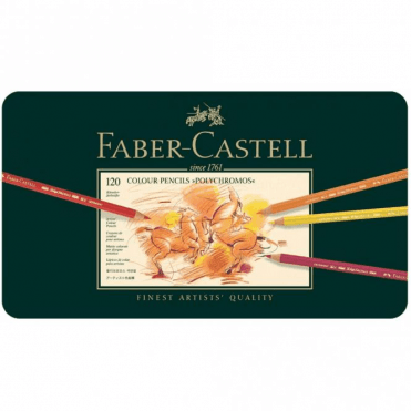 Faber-Castell 120 Colour Pencils Polychromos Tin