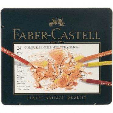 Faber-Castell 24 Colour Pencils Polychromos Tin