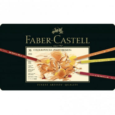 Faber-Castell 36 Colour Pencils Polychromos Tin