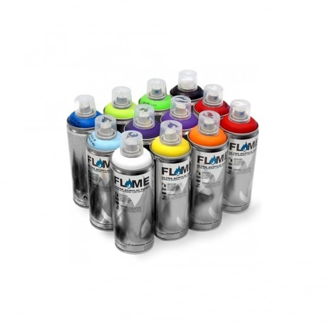 Flame Blue Spray Paint - 12 Pack
