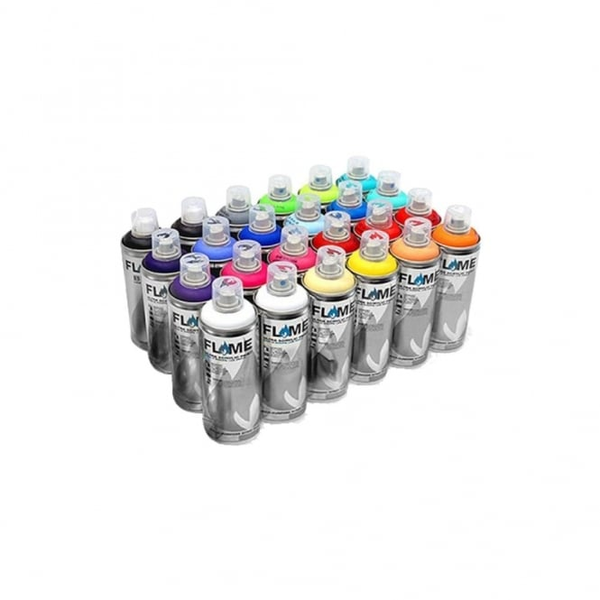 Flame Blue Spray Paint - 24 Pack
