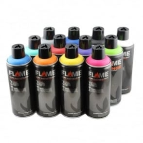 Orange Spray Paint - 12 Pack