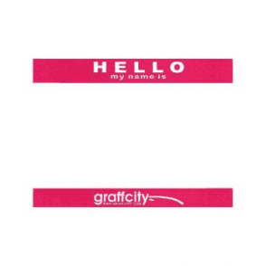 Graff-City A5 'Hello My Name Is' Stickers