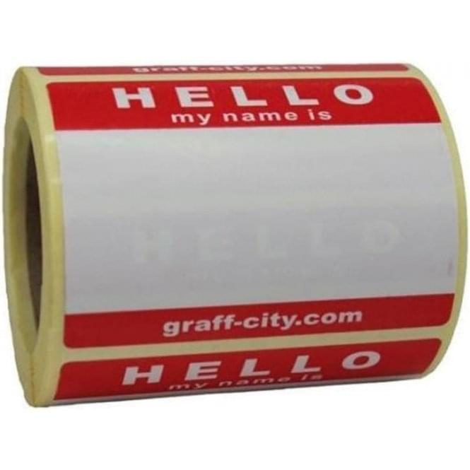 Graff-City 'Hello My Name Is' Stickers (250)