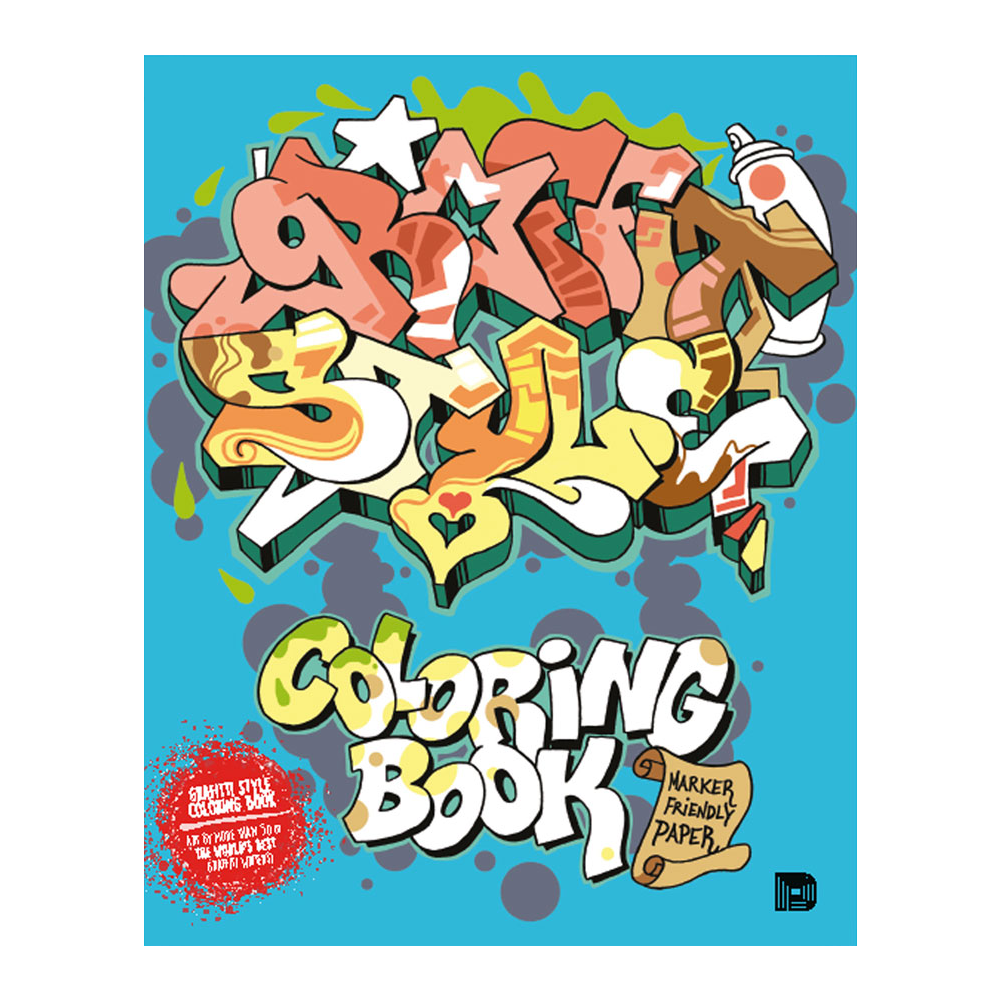 Graffiti Style Colouring Book Sketching Equipment From Graff