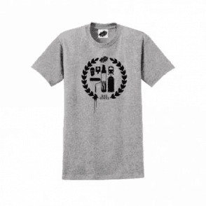 Heavy Goods Crest Logo T-Shirt Grey