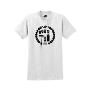 Heavy Goods Crest Logo T-Shirt White