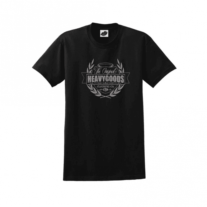 Heavy Goods Taste Crest Logo T-Shirt Black