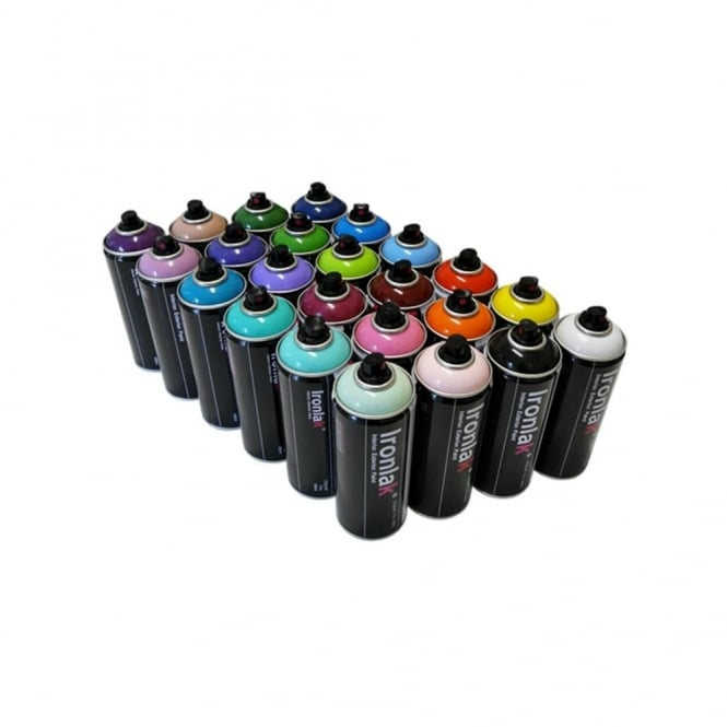 Ironlak Spray Paint - 24 Pack