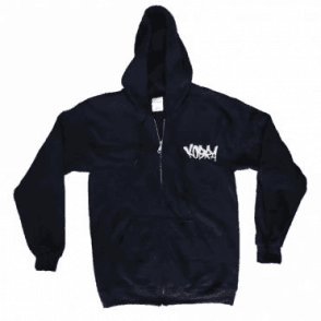 Embroidered Tag Zip Hoodie