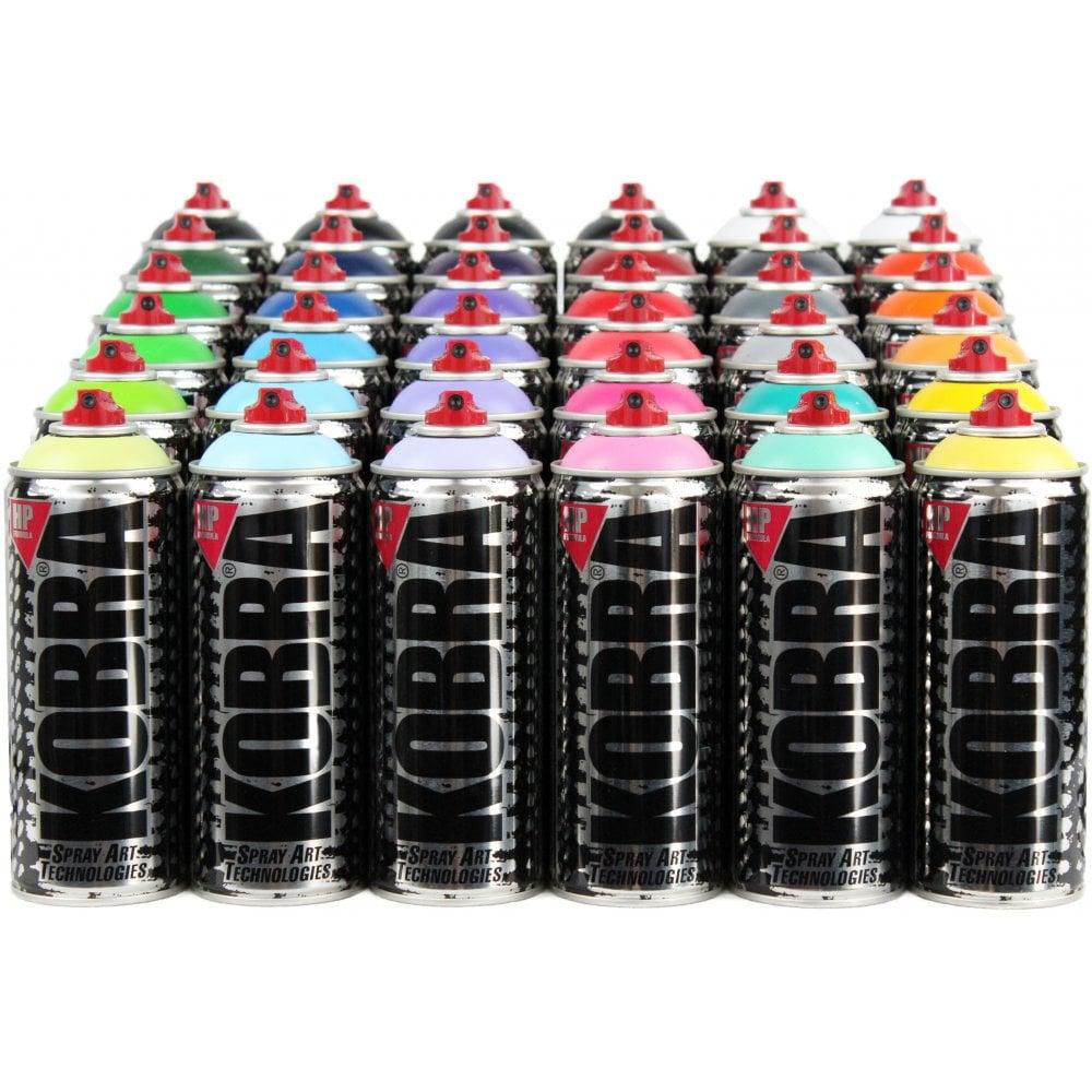 Kobra Hp 36 Pack Spray Cans From Graff City Ltd Uk