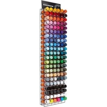 Spray Paint Rack Filled (132 Cans)