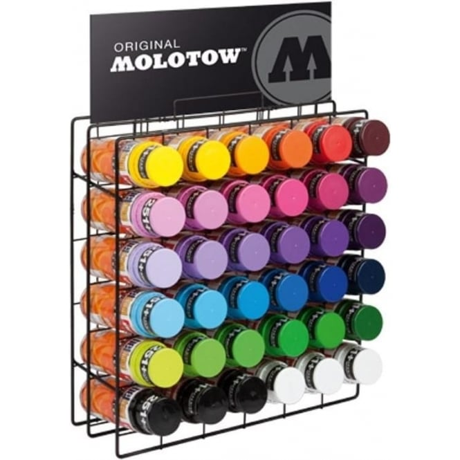 Molotow Spray Paint Rack Filled (36 Cans)