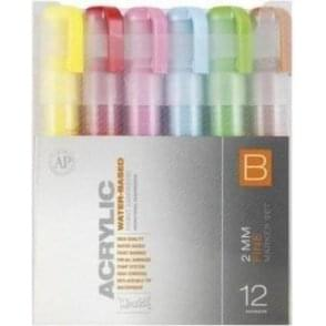 Acrylic 2mm Fine Marker Set B (12)
