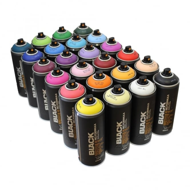 montana black spray paint 24 pack graff city ltd from uk. Black Bedroom Furniture Sets. Home Design Ideas