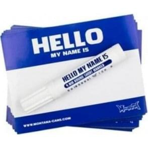 Blue Hello My Name Is Stickers
