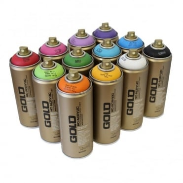 Gold Spray Paint - 12 Pack