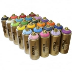 Gold Spray Paint - 24 Pack