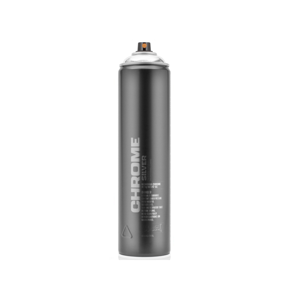 montana silver chrome spray paint 600ml spray cans from. Black Bedroom Furniture Sets. Home Design Ideas