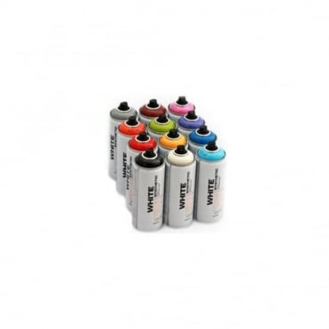 White Spray Paint - 12 Pack