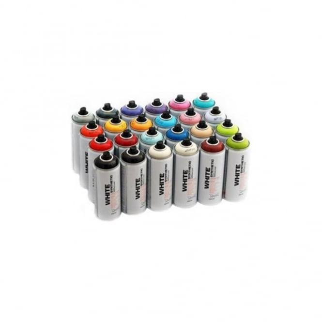 Montana White Spray Paint - 24 Pack