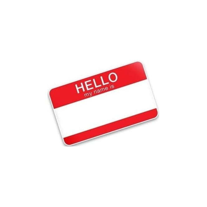 More Free Hello My Name Is Stickers (Over £10.00)