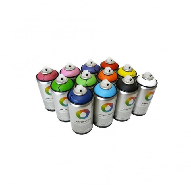 MTN Water Based Spray Paint - 12 Pack