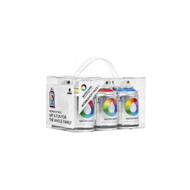 MTN Water Based Spray Paint Workshop Pack (6)