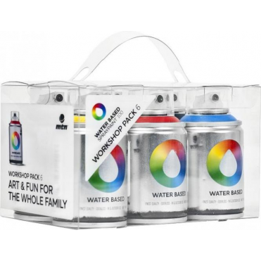 Water Based Spray Paint Workshop Pack (6)