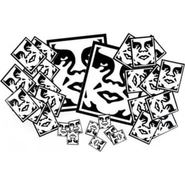 Obey Icon Face Sticker Pack
