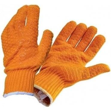 Orange Gripper Gloves
