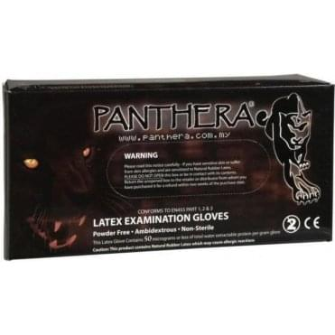 Panthera Black Latex Gloves (Expired)