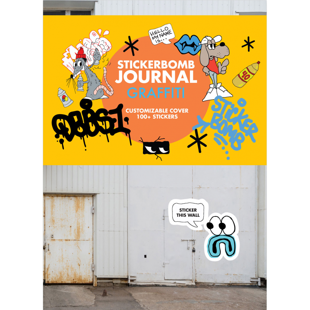 Stickerbomb journal graffiti media from graff city ltd uk