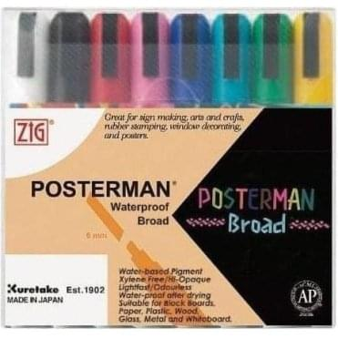 Posterman Waterproof Broad PMA-50 Set (8)